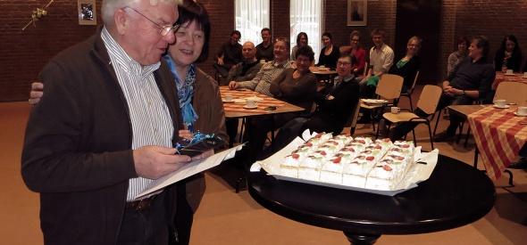 Huldiging Piet van Aartsen bij de algemene ledenvergadering 2013