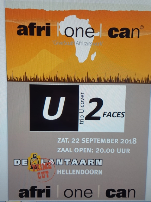 Ticket U2 Faces - Tribute to Africa
