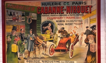 "French Oil advertising Poster ""Huilerie de Paris Cabanne-Nirout"