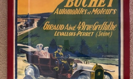 Buchet Automobiles advertising poster