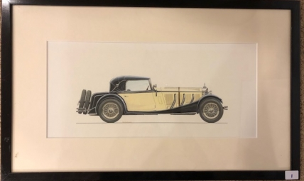 Painted rendering of a Mercedes-Benz 710SS Sindelfingen C Cabriolet