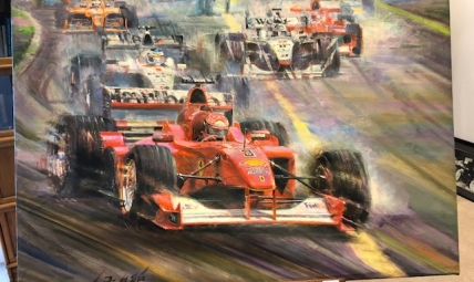 Painting of Michael Schumacher F1