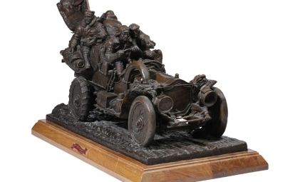 STANLEY WANLASS  'NEW YORK TO PARIS' A BRONZE SCULPTURE