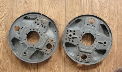 Brake backing plates Maserati A6GCM  new old stock  ex. Froilan Gonzalez