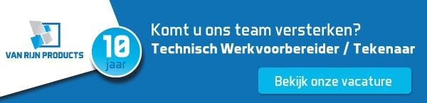 van Rijn Products - Vacature technisch werkvoorbereider