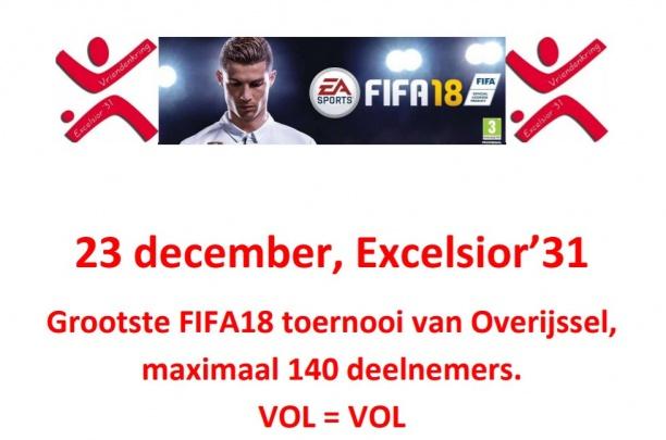 Zaterdag 23 december: Playstation 4 FIFA toernooi bij Excelsior'31