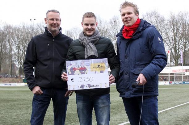 Excelsior'31 haalt €2750,- op voor actie Mark Lohuis tegen taaislijmziekte