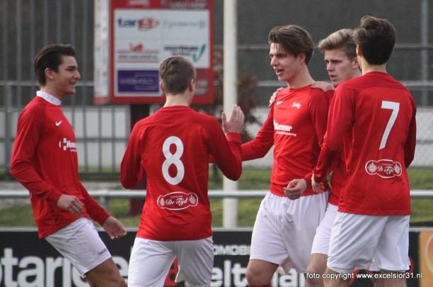 Jong Excelsior'31 plaatst zich voor halve finale Tukker Cup