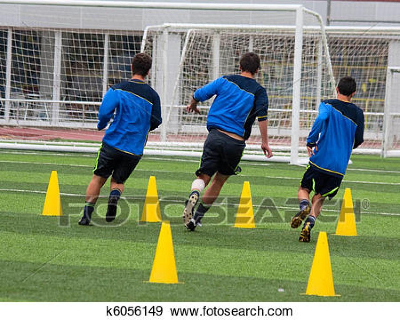 Foto bij 1e training 1e elftal