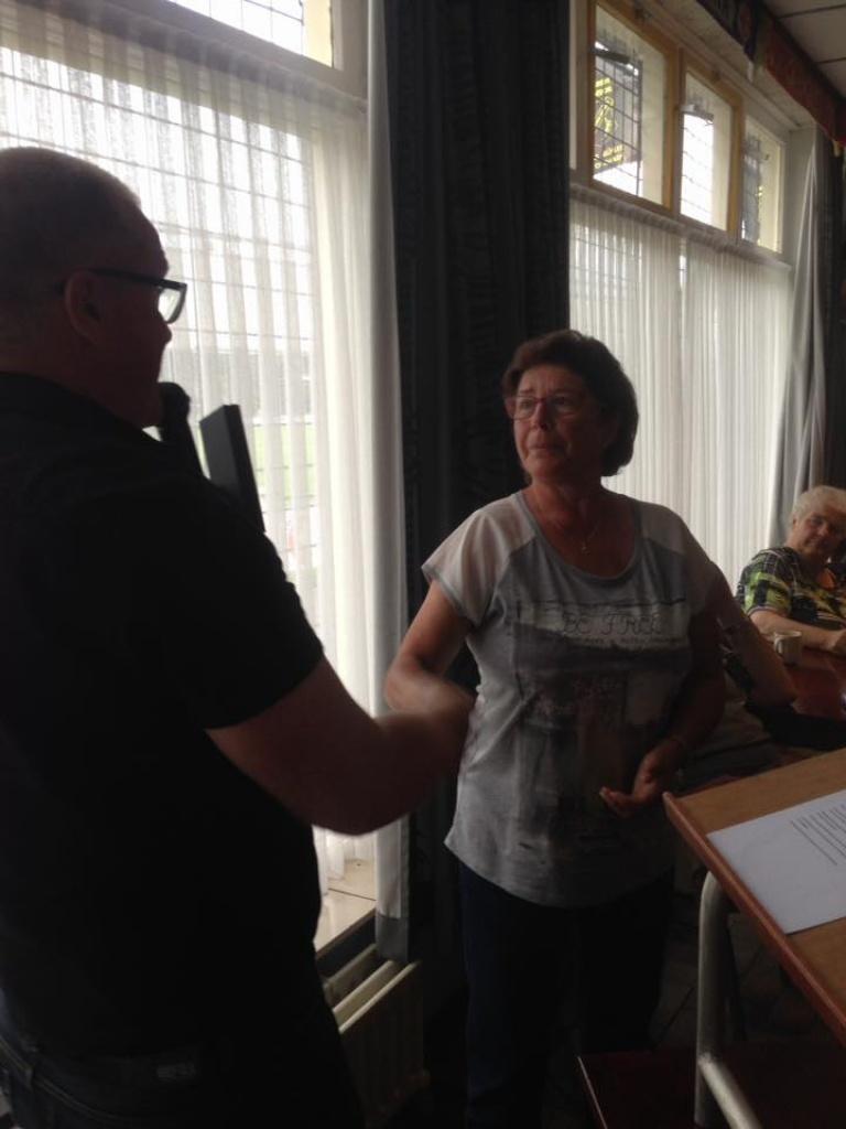 Foto uit album Foto uit album: Jubilarissen & afscheid Wedstrijdsecretaris , Lid van Verdienste<br />