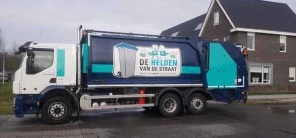 Blauwe  containers zorgen voor hogere papieropbrengst