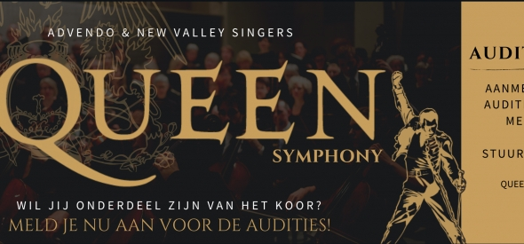 The Queen Symphony zingen met koor en orkest? Doe auditie!