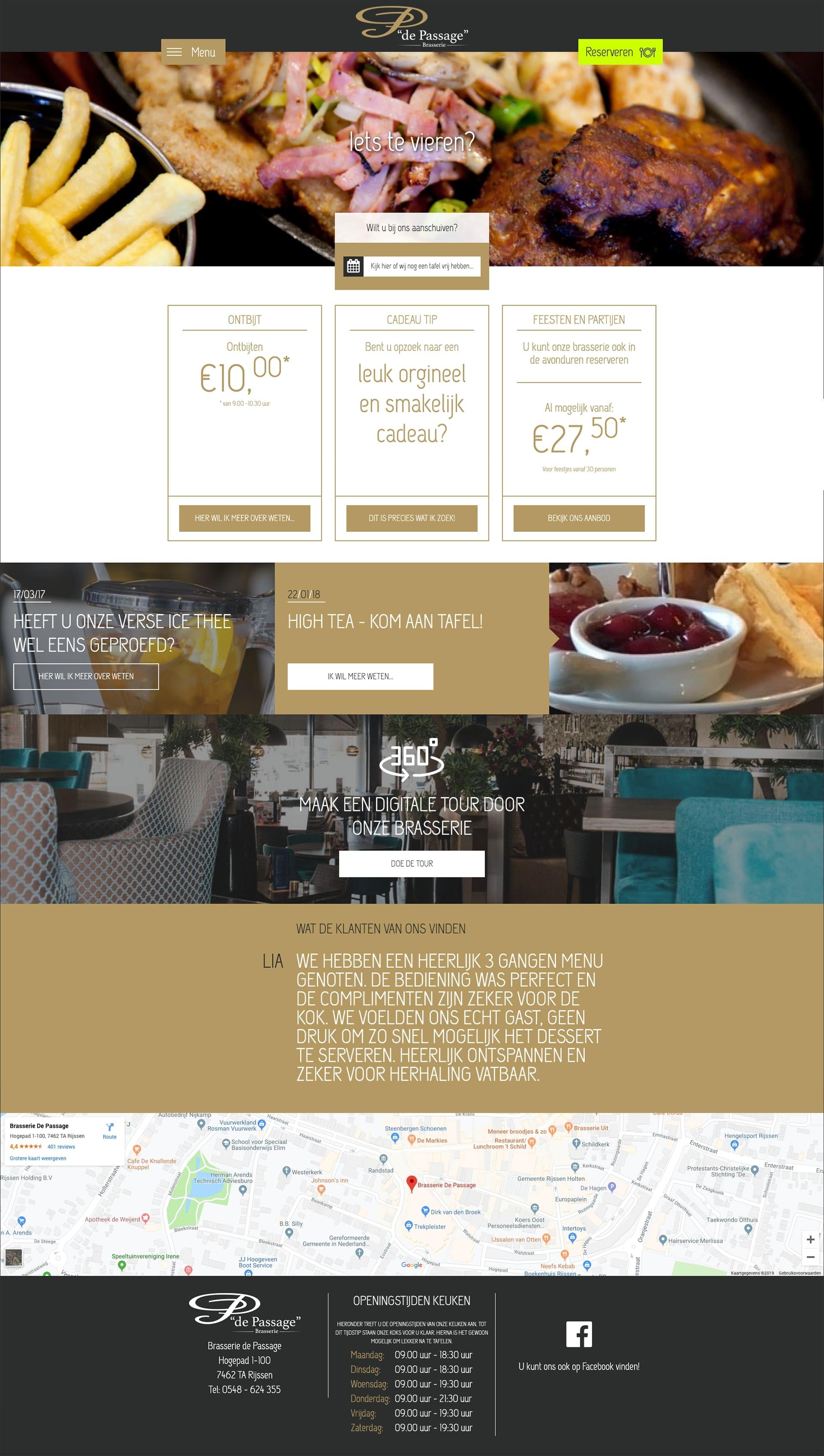We bouwen graag aan het merk Brasserie de Passage