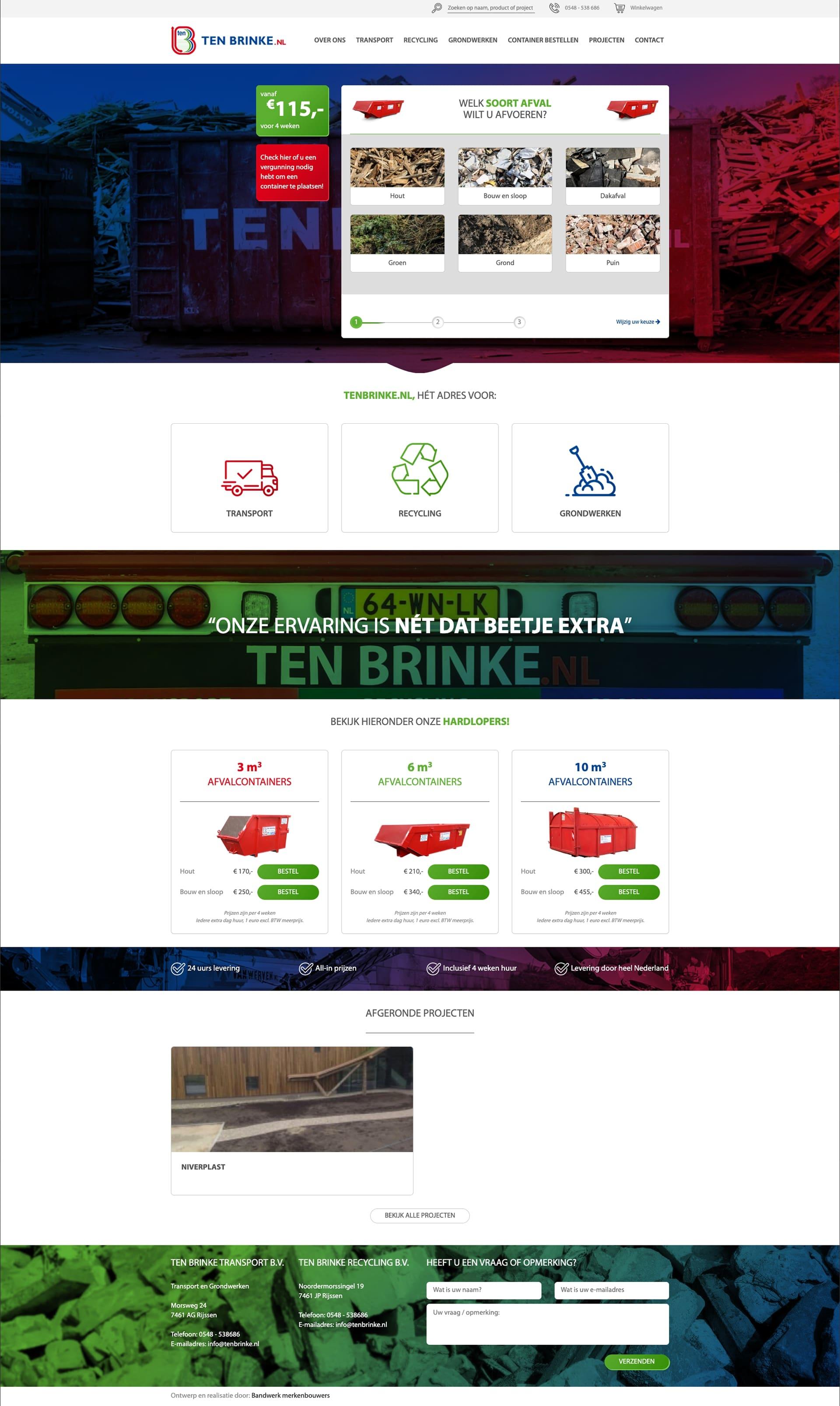 We bouwen graag aan het merk Ten Brinke Containers