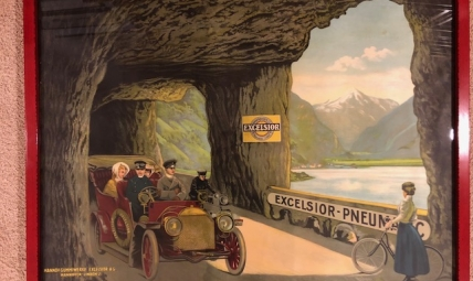 Excelsior Tires Advertising poster