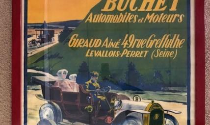 Buchet Automobiles advertising poster