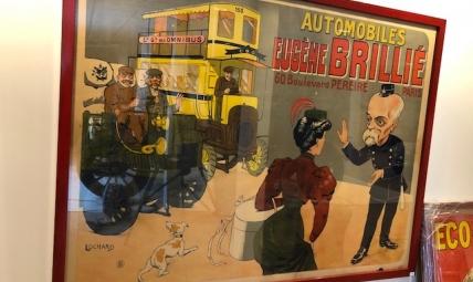 Advertising poster AUTOMOBILES EUGENE BRILLIE 60
