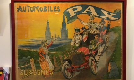 Advertising poster AUTOMOBILES PAX SURESNES