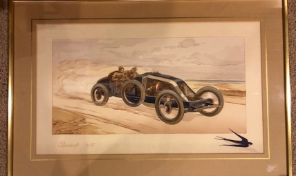 Print of Renault 1908 by E. Montaut