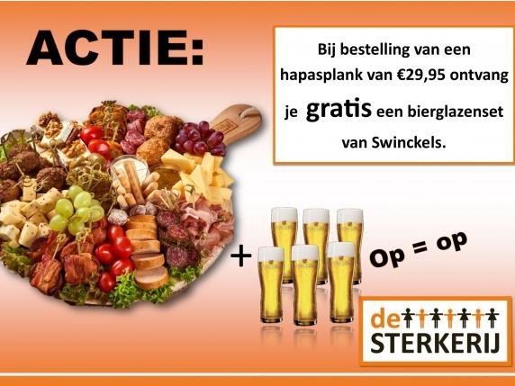 Foto van ACTIE HAPASPLANK + SWINCKELS BIERGLAZENSET