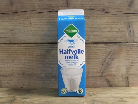 Foto van Liter halfvolle melk