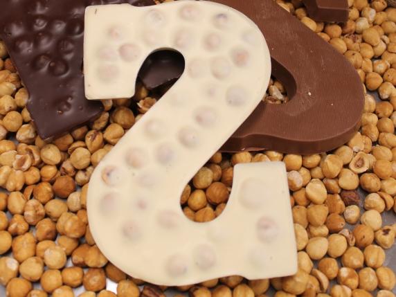 """Foto van Chocoladeletter 200 GRAM """"HAZELNOOT"""", verpakt,  """"A"""" t/m"""" Z"""""""