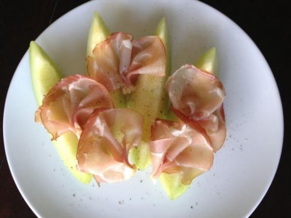 Foto van Meloen met Ham