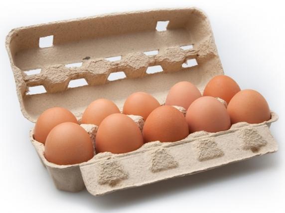 Foto van Doosje Noaber eieren 10 stuks (maat L)