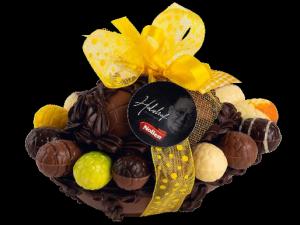 Foto van Dubbel chocolade paasei