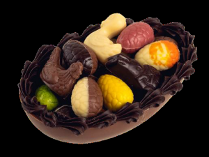 Foto van Half chocolade paasei