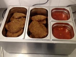 Foto van Schnitzel met saus