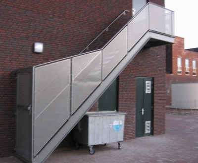Afbeelding bij Perfo/plaathekken trap