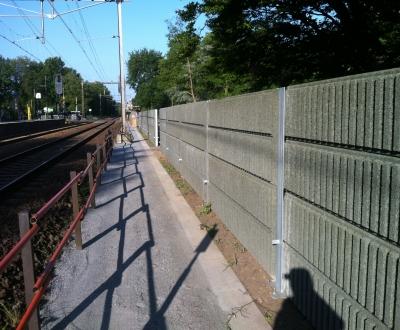 Afbeelding bij Geluidschermen spoor Deventer-Hengelo