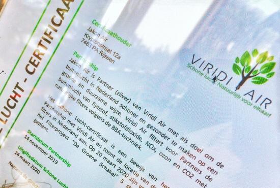 Afbeelding bij Het Schone Lucht-keurmerk (Viridi Air)