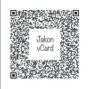 Jakon vCard QR code
