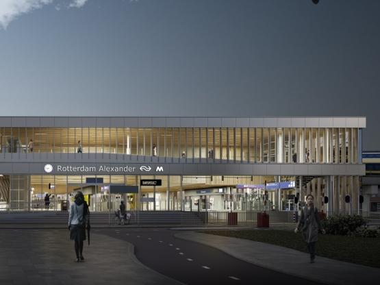 Afbeelding bij Station Rotterdam Alexander