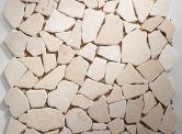 Goedkope tegel: Mozaiek Flagstone Creme 30,5 x 30,5 cm