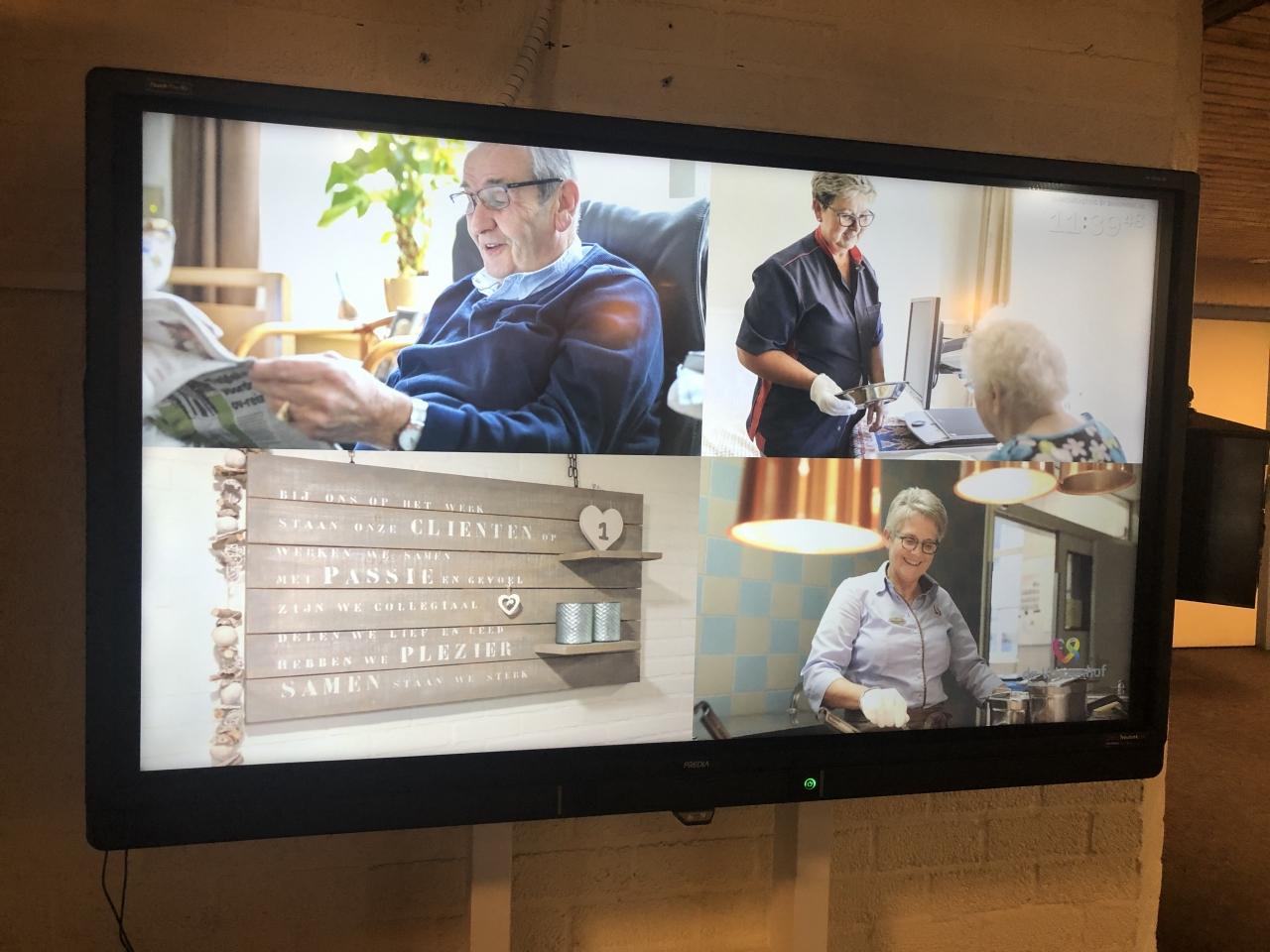 TV-scherm in de hal