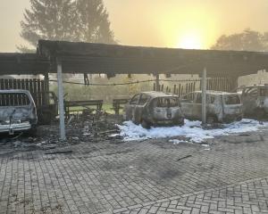 Afbeelding bij Carport met auto's volledig uitgebrand